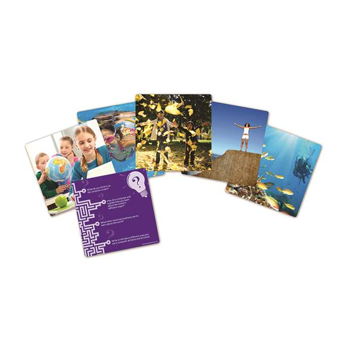 Snapshots Critical Thinking Photo Cards Gr 1-2 Set Of 40 By Learning Resources