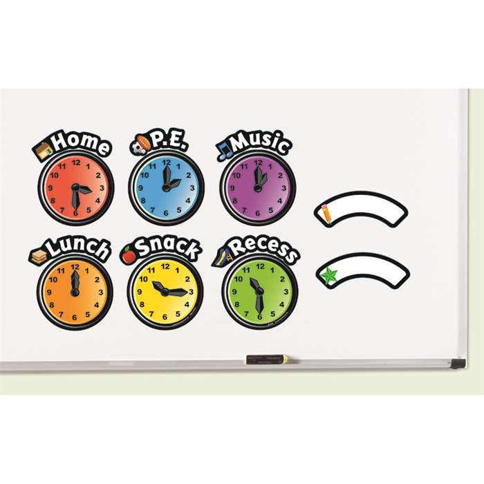 Shop Magnetic Daily Schedule Clocks - Ler9592 By Learning Resources