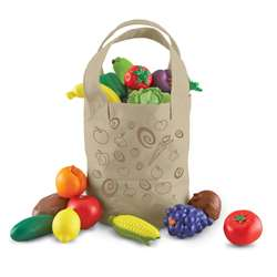 New Sprouts Fresh Picked Fruits & Veggie Tote By Learning Resources