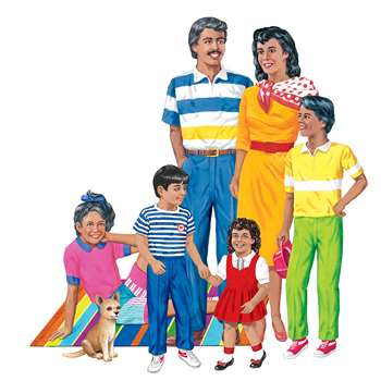 Hispanic Family Flannelboard Set Pre-Cut By Little Folks Visuals