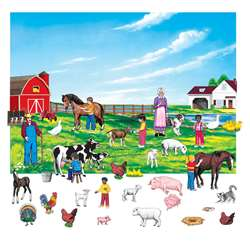 Farm Set 6In Figures With Unmounted Background By Little Folks Visuals