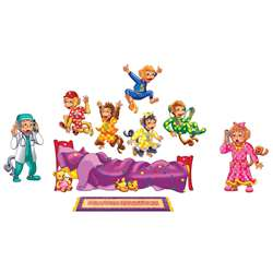 Five Monkeys On The Bed Bilingual Flannelboard Set Pre-Cut By Little Folks Visuals