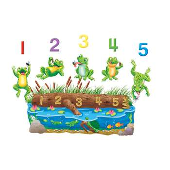 Five Speckled Frogs Bilingual Flannelboard Set Pre-Cut By Little Folks Visuals
