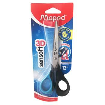 6 1/2In Sensoft Scissors Left Haned By Maped Usa