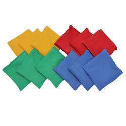 Bean Bags 4 X 4 12-Pk Nylon Cover Plastic Bead Filling By Dick Martin Sports