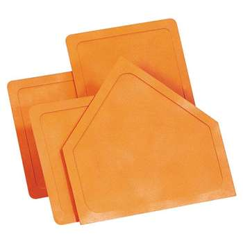 Throw-Down Home Plate & 3 Bases Orange Rubber By Dick Martin Sports