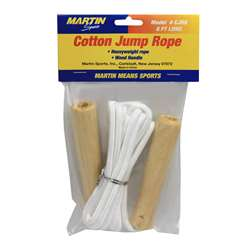 Jump Rope Cotton 8Wood Handle By Dick Martin Sports