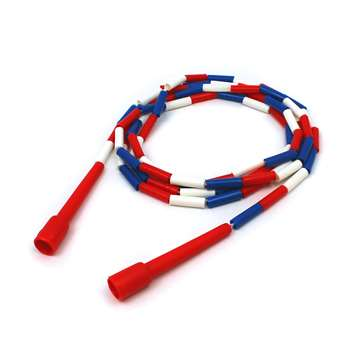 Jump Rope Plastic 10 Sections On Nylon Rope By Dick Martin Sports