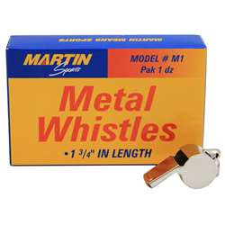 Whistle Small Metal 12/Pk 1-3/4L By Dick Martin Sports