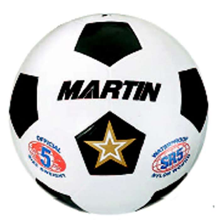 Soccer Ball White Size 4 Rubber Nylon Wound By Dick Martin Sports
