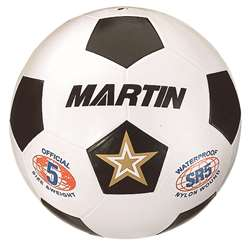 Soccer Ball White Size 5 Rubber Nylon Wound By Dick Martin Sports