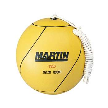 Tetherball Rubber Nylon Wound W/ Rope By Dick Martin Sports
