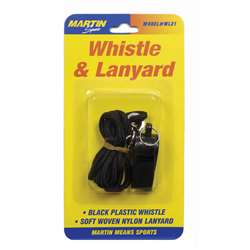 Whistle & Lanyard No P20 & Lanyard On Blister Card By Dick Martin Sports