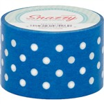 Mavalus Snazzy Blue W/ White Polka Dot Tape 1.5 X 39 By Dss Distributing