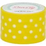 Mavalus Snazzy Yellow W/ White Polka Dot Tape 1.5 X 39 By Dss Distributing