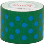 Mavalus Snazzy Lime W/ Blue Polka Dot Tape 1.5 X 39 By Dss Distributing