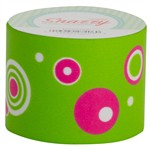 Snazzy Tape Pink Graphic Circles On Green By Dss Distributing