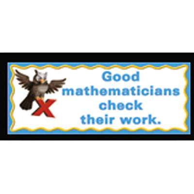 What Good Mathematicians Do Chalkboard Topper By Mcdonald Publishing
