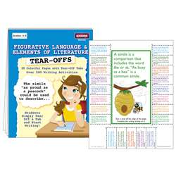 Figurative Language & Elements Of Literature Tear Offs By Mcdonald Publishing
