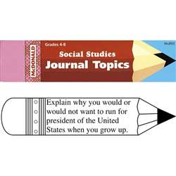 Journal Booklet Social Studies Gr 4-8 By Mcdonald Publishing
