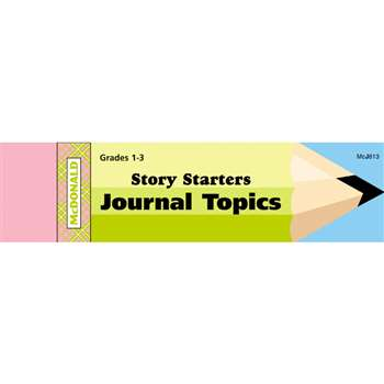 Journal Booklet Story Starters Gr 1-3 By Mcdonald Publishing