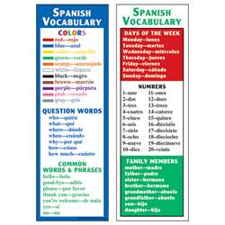 Spanish Vocabulary Smart Bookmarks By Mcdonald Publishing