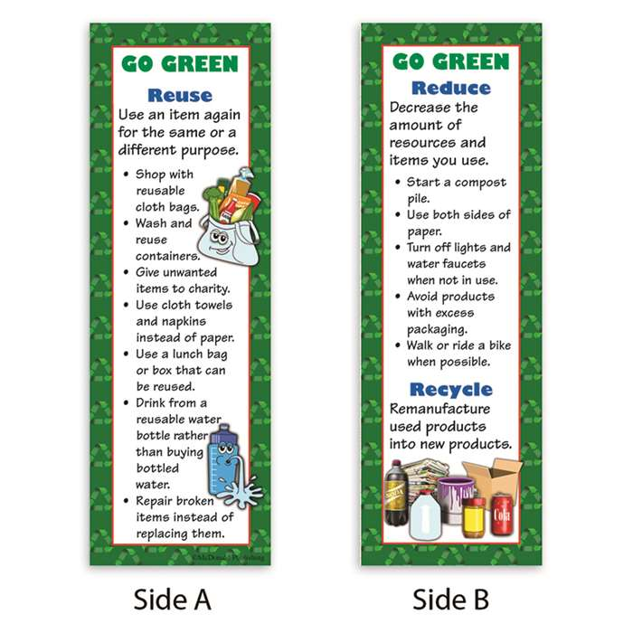 Go Green Smart Bookmarks By Mcdonald Publishing