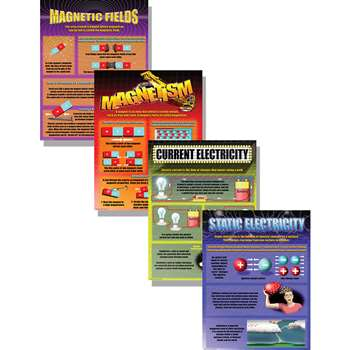 Electricity & Magnestism Poster Set By Mcdonald Publishing