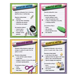 Four Types Of Writing Teaching Poster Set By Mcdonald Publishing
