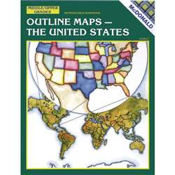 Outline Maps The Us Gr 6-9 By Mcdonald Publishing