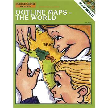 Outline Maps The World By Mcdonald Publishing