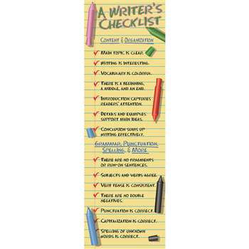 A Writers Checklist Colossal Concept Poster By Mcdonald Publishing
