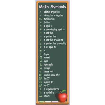Math Symbols Colossal Concept Poste By Mcdonald Publishing