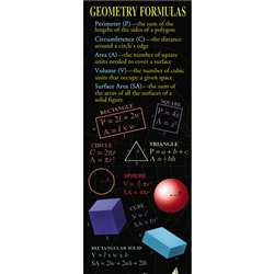 Geometry Formulas Colossal Poster By Mcdonald Publishing