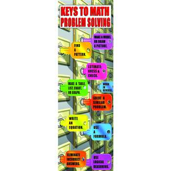 Math Problem Solving Strategies Colossal Poster By Mcdonald Publishing