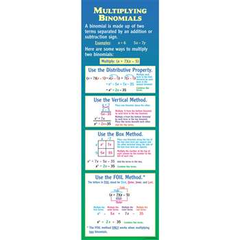 Multiplying Binomials Colossal Poster By Mcdonald Publishing