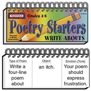 Write-Abouts Poetry Starters By Mcdonald Publishing