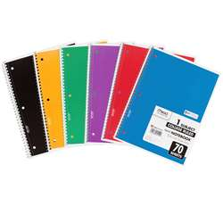 Notebook Spiral Single 70 Sht Ct Subject By Mead Products
