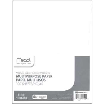 Paper Typing 8 1/2 X 11 100 Ct By Mead Products