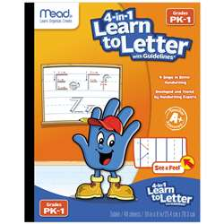Mead See And Feel Learn To Letter with Guidelines , MEA48112