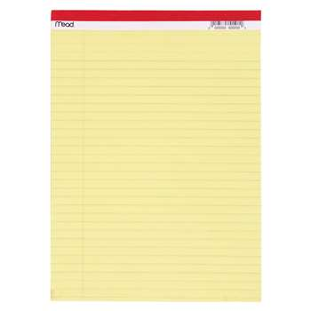 Legal Pad 8.5X11.75 50 Ct Canary By Mead Products