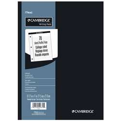 Pad Legal Cambridge White 70 Ct 8 1/2 X 11 3/4 Coll Rule 3 Hole By Mead Products