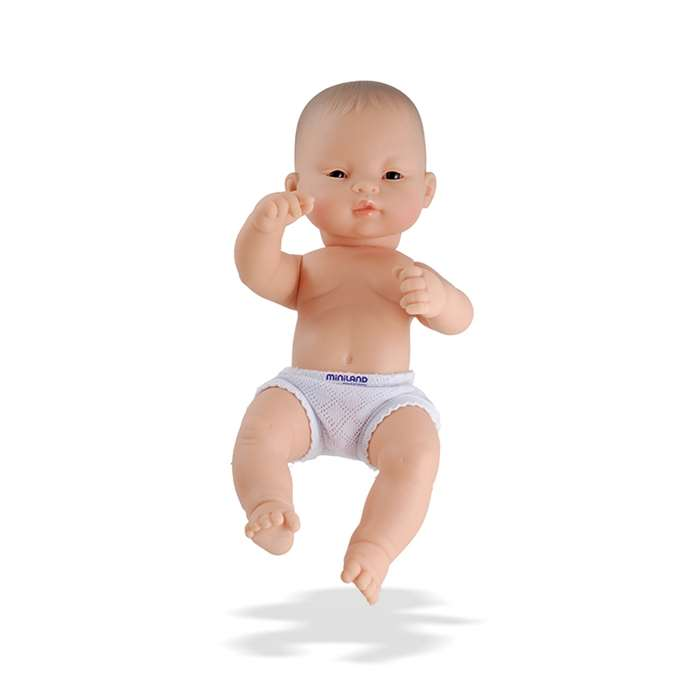 Newborn Baby Doll Asian Boy 12-5/8L By Miniland Educational