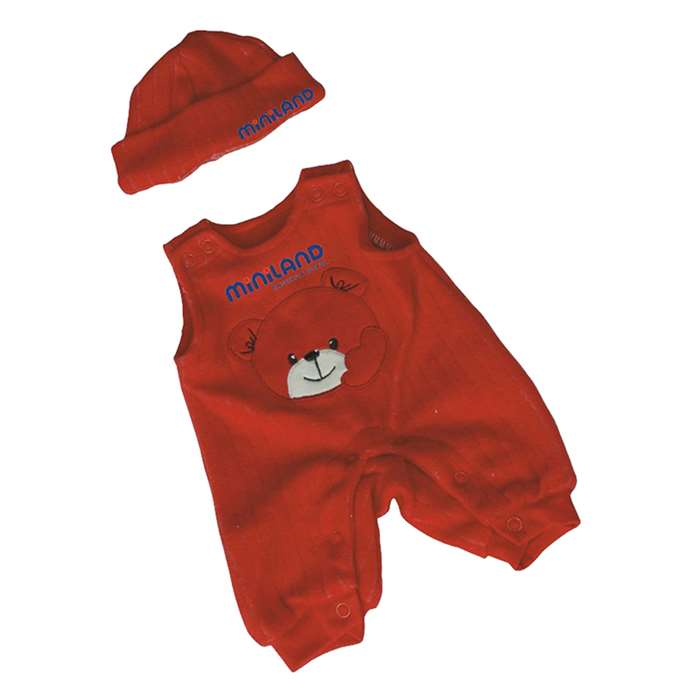 Baby Doll Clothes Red Jumper With Hat By Miniland Educational