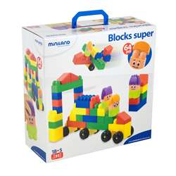 Blocks Super 64 Pcs By Miniland Educational