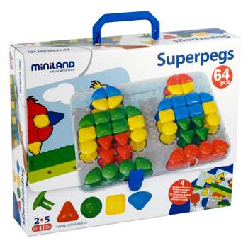 Super Pegs Board 4 Cards & 64 Pegs, MLE95080