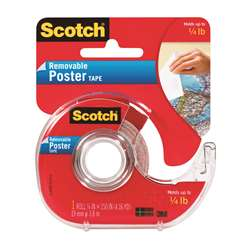 Tape Poster Removable 3/4 X 150 Clear By 3M