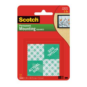 Mounting Squares 1 Inch 16 1 Squares Per Pk By 3M