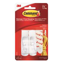 Command Adhesive Reusable Medium Hooks Pack Of 2 By 3M