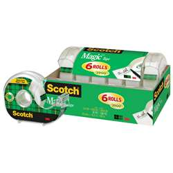 Scotch Magic Tape 1/2 X 650 6 Pack By 3M